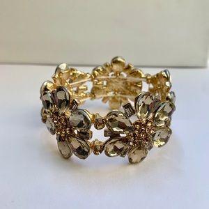 Beautiful Floral rhinestone crystal bracelet